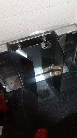 Botiquin super de banio vidrio y chapa