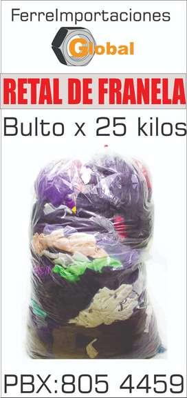 TRAPO RETAL DE FRANEL POR KILO O BULTOS