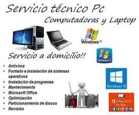 Servicio Técnico Computadora Pc Laptop Inst de CCTV Camaras