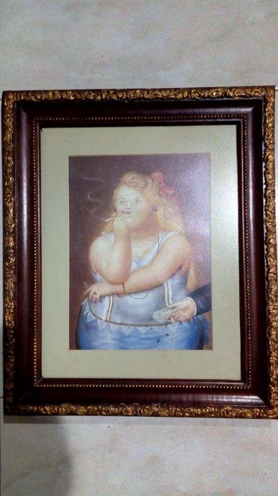 Cuadro Botero En Lamina, 43x38 0