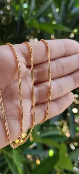 Cadenas Oro laminado