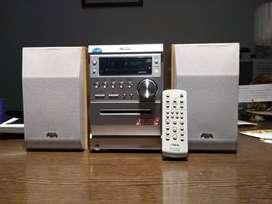 Vendo Mini Componente AIWA CX-LEM330 - Radio AM/FM - CD- Cassete - MP3 - Parlantes de Madera