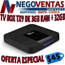 TV BOX TX9 DE 3 GIGAS DE RAM MAS 16 DE ALMACENAMIENTO SMART TV