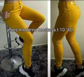 Jeans color mostaza marca studio f   talla 10