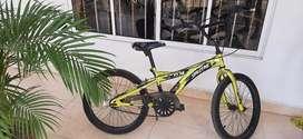 Vendo bicicleta color dorado metalizada pintura original.