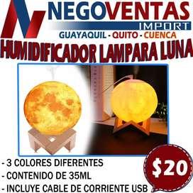 LAMPARA HUMIDIFICADOR TIPO LUNA