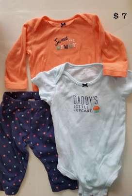 Ropa bebe americana marca Carter seminueva  6 meses
