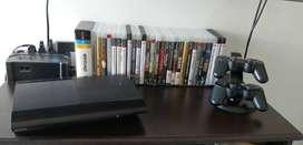 Playstation 3, SuperSlim, 500gb + 2 Controles + Cargador + Juegos