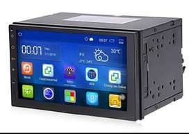 RADIO PANTALLA ANDROID DOBLE DIN CD DVD BLUETOOTH USB SD AUX FM PARA CARROS