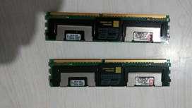 Memorias para Server Kingston 2gb 2x1gb