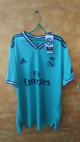 Real Madrid talla L verde azul 19-20