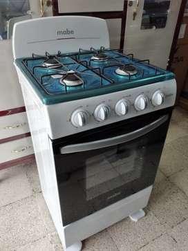Cocinas mabe de 4hornillas color blanco