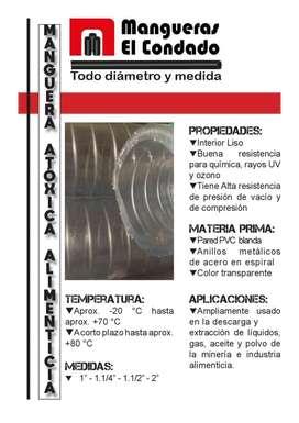 Manguera Cristal Anillada Aceites Tejida Transparente Trenzada Nivel
