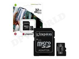 Tarjeta de Memoria Micro Sd 32gb Kingston Clase 10 Original Android HD FHD 4K