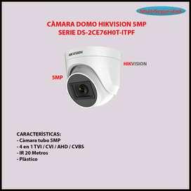CÀMARA DOMO HIKVISION 5MP 20M DS-2CE76H0T-ITPF INC IVA