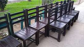 sillas de madera ideal para restaurante