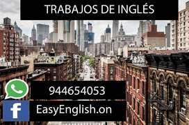 TRABAJOS DE INGLÉS A TODO NIVEL