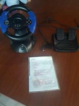 Volante con pedalera ps 3 PS2 y pc