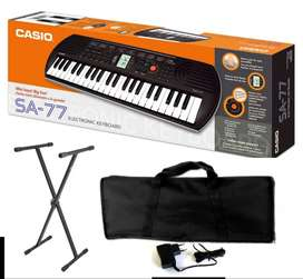 Combo Casio SA-77 Piano estuche base adaptador Music Box