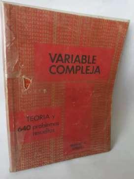 Variable compleja Murray spiegel 650 problemas resueltos serie schaum mcgraw-hill