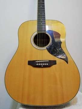 Guitarra Electro Acustica + Forro + Cartilla de Aprendizaje + 2 Pajuelas  + Cable conector