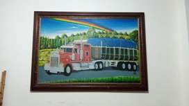 Se vende cuadro decorativo de tractomula