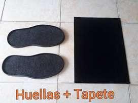 Tapete Desinfectante - Huellas bioseguridad entradas calzado zapatos bandeja