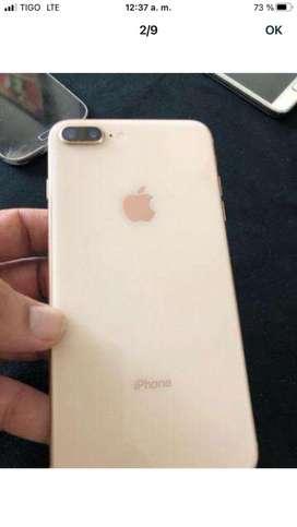 iphone 8plus oro rosa 64 gb con su cargador  forro equipo libre y legal todo operador