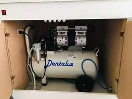 Compresora dental libre de aceite 1.5 HP