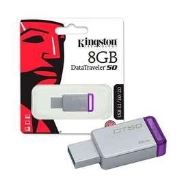 Mem. Usb Kingston 8gb ( Dt50/8gb ) Datatraveler 50