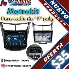 METROKIT MARCO PARA RADIO DE 9 PULGADAS