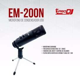Micrófono de usb marca  pro dj