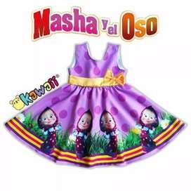 Hermoso Vestido Personalizado Masa Y El.Oso