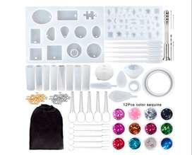 170 moldes de resina de silicona para principiantes, moldes de resina epoxi