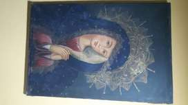 Virgen manto azul