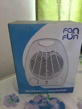 Calefactor y ventilador   nuevo