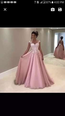 Vestido de 15 años talla s color palo de rosa enviada desde estados unidos esta nuevo con etiqueta nunca se utilizo