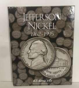 ALBUM COLECCIONADOR JEFERSON NICKEL 1962 AL 1995