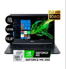 "Laptop Acer Aspire 5 A515-54G 15.6"" Core i7 10ma 1TB 12GB MX 250 2GB"
