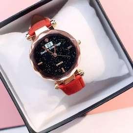 reloj cosmos ilusion of time mujer dama cuero analogo relojes
