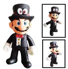 Figura Mario Bros Colección Mario Traje Juguete Figuras