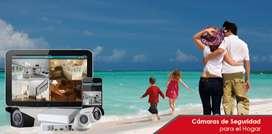 kit combo 4k 5mp  UltraHd++ camaras video vigilancia + disco duro+ intalacion