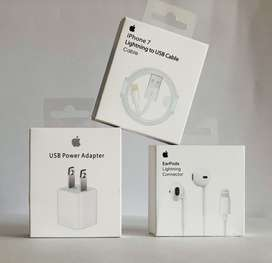 Cargador para iphone y audifonos EarPods