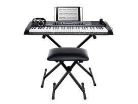 Piano Kit Teclado Alesis Melody 61 + Banco + Micrófono Original