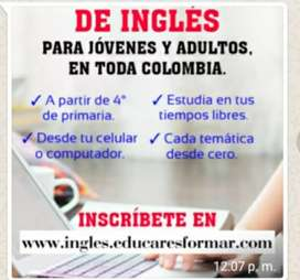 TALLER GRATUITO DE INGLES PARA JOVENES Y ADULTOS