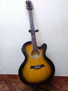 Guitarra mc art electroacustica con soportewsp 31379692oo