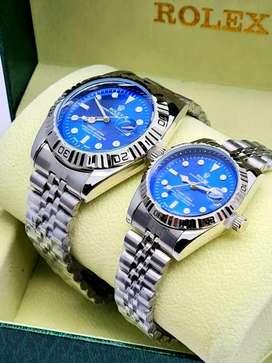 Relojes Rolex de parejas hombre y mujer con estuche
