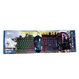 Kit Gamer 4 En 1, Teclado + Auriculares + Mouse + Pad