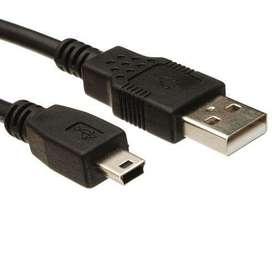 Cable Usb a Mini Usb 5 Pines V3 de 1.8 Metros Delta 2.50