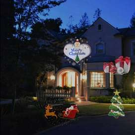 Proyector Luces Navidad Fiestas Exteriores 16 Diapositivas